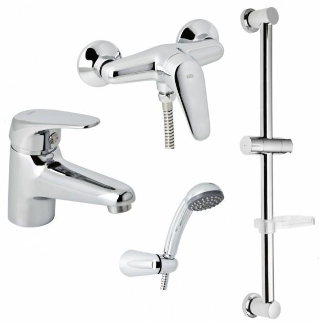 Наборы смесителей для ванны Genebre Набор смесителей для душа и раковины Genebre Ge2 04GE2D17RO