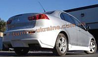 Бампер задний (Dr-st) на  Mitsubishi Lancer X 2007-2016 хэтчбек