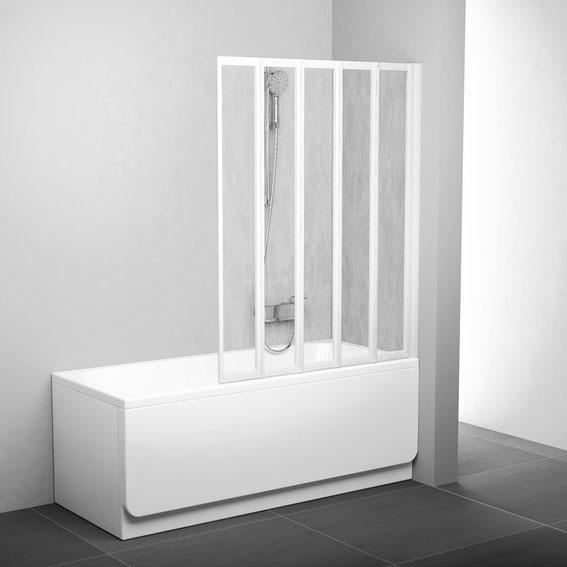 Шторки для ванни Ravak Шторка для ванни Ravak 113 см VS5 105 білий+rain 794E010041
