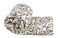 Одеяло двуспальное Евро 200х215см /Одеяло на овчине/Одеяло Gold/Ковдра вовняна