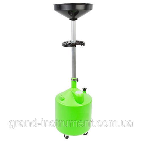 Установка для слива масла пластиковая (75л, GREEN) G.I. KRAFT HDP-75