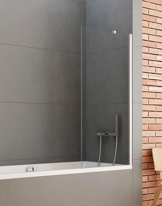 Шторки для ванн стеклянные New Trendy Шторка для ванны New Trendy New Soleo 90 см (P-0032)
