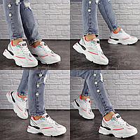 Женские белые кроссовки Caruso 1611 сетка эко-кожа  Размер 37 - 23,5 см по стельке, обувь женская