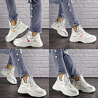 Женские белые кроссовки Cosmos 1234 Эко-кожа  Размер 36 - 22,5 см по стельке, обувь женская