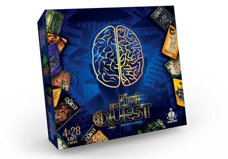 Карточная квест-игра Best Quest 4 в 1 на украинском Данко Тойс SKL11-219021