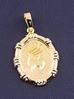 Кулон для цепочки знак зодиака ТЕЛЕЦ кулон овальной формы медицинский сплав позолота XUPING