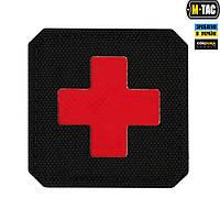 M-Tac нашивка Medic Cross Laser Cut Red/Black, фото 1