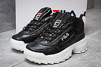 Кроссовки женские FILA Disruptor, Фила  черные, жіночі кросівки.