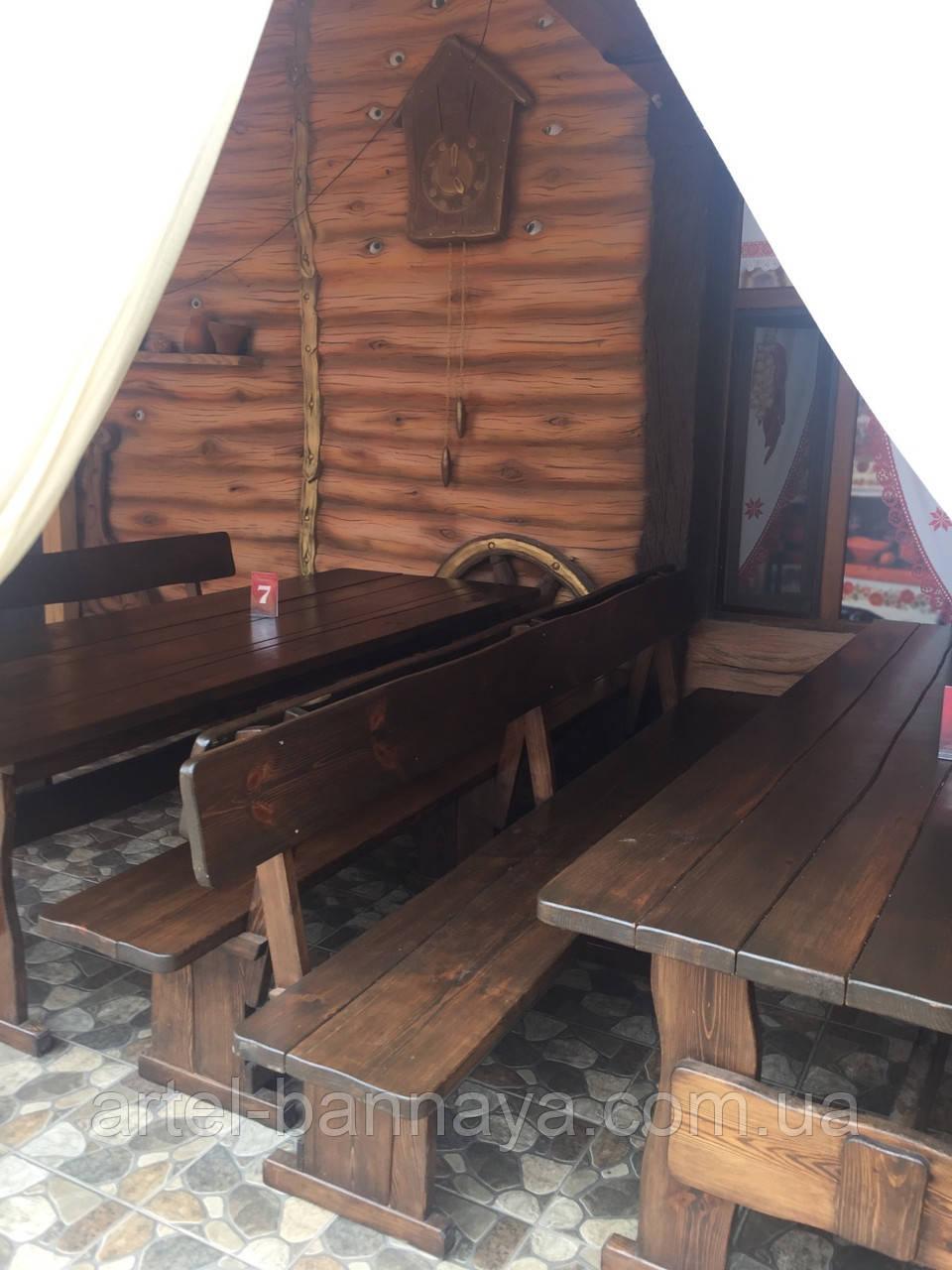 Деревянная мебель для беседок и мангалов в Борисполе от производителя
