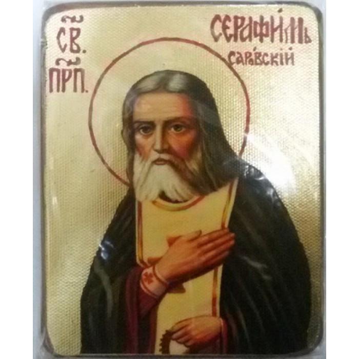 Серафим Саровский Икона  Греческая под старину ХОЛСТ ЗОЛОТО 16х22