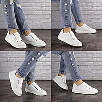 Женские белые кроссовки Jenna 1635 Эко-кожа . Размер 40 - 25 см. Обувь женская