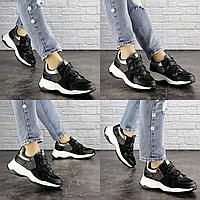 Женские черные кроссовки Bruiser 1659  эко-кожа сетка эко-замша  Размер 37 - 23,5 см по стельке, обувь женская