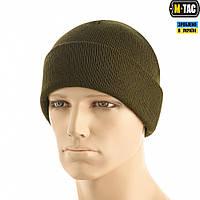 M-Tac шапка тонкая вязка 100% акрил Dark Olive, фото 1