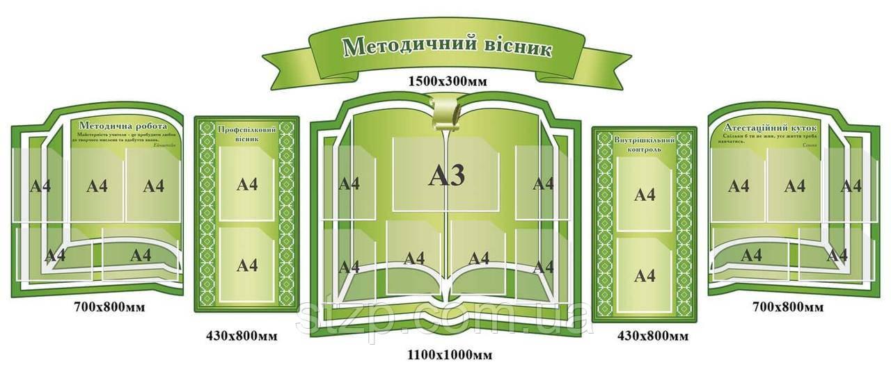 Комплект стендів Комплект стендів Методичний вісник (в зеленому кольорі)