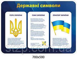 Стенд Державна символіка України (синій колір)