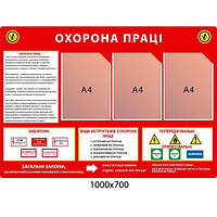 Стенд Охрана труда фон красный
