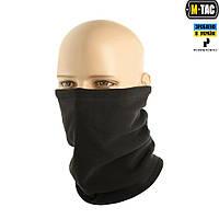 M-Tac шарф-труба Premium короткий с затяжкой флис (225г/м2) Black