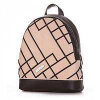 Красивый черный-бежевый рюкзак Alba Soboni арт. 130969
