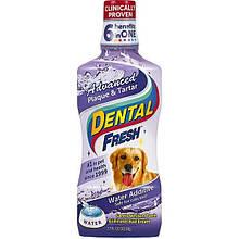 Жидкость от зубного налета и запаха из пасти собак и кошек SynergyLabs Dental Fresh Advanced, 503 мл