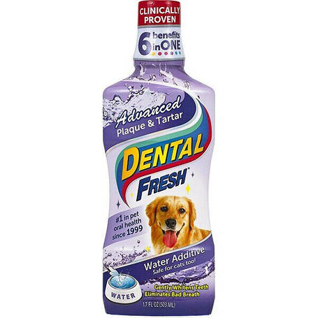 Жидкость от зубного налета и запаха из пасти собак и кошек SynergyLabs Dental Fresh Advanced, 503 мл, фото 2