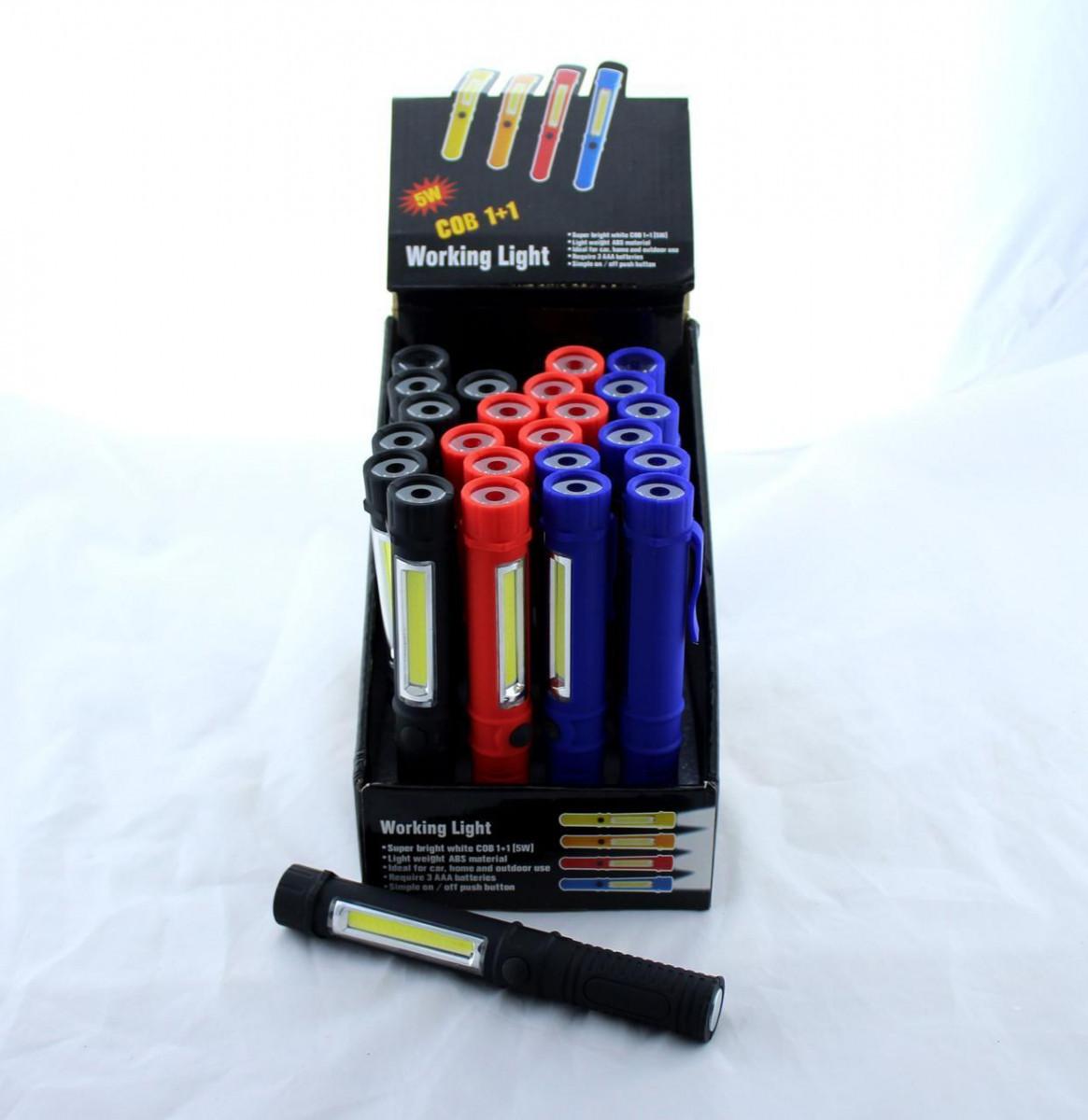Ліхтарик 909 COB (Ціна за упаковку 24 штуки)