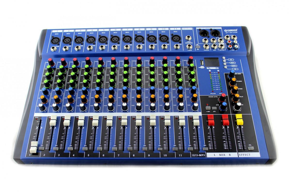 Аудіо мікшер Mixer 12USB CT12 Ямаха 12 канальний