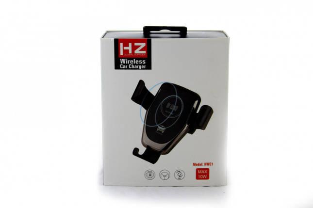Автомобільний тримач телефону з бездротовою зарядкою WC1 HZ Wireless charger, фото 2