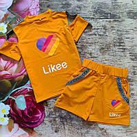 """Літній костюм шорти і топ """"Likee"""" для дівчинки 152, 158р"""