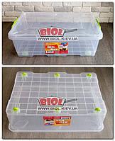 """Контейнер 30л з коліщатками 615х390х190мм для зберігання з харчового пластику """"Big Box"""" Ал-Пластик, фото 1"""
