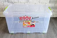 "Контейнер 50л с колесиками 615х390х315мм для хранения из пищевого пластика ""Big Box"" Ал-Пластик"