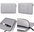 Чехол для Макбук Macbook Air/Pro 13,3'' - темно серый, фото 10