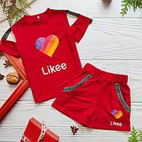 """Літній костюм шорти і топ """"Likee"""" для дівчинки."""
