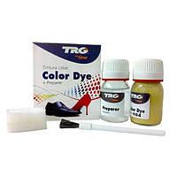 ✅ Темно-бежевая глянцевая краска для кожи и обуви TRG Color Dye Double, 25+25 мл