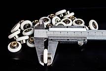 Колесики для душевой кабины ( А-44 6 ) диаметром 19 мм. с резьбой на втулке подшипника, фото 3
