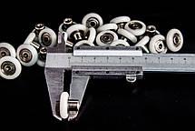 Колесики для душевой кабины ( А-44 8 ) диаметром 19 мм. с резьбой на втулке подшипника, фото 3