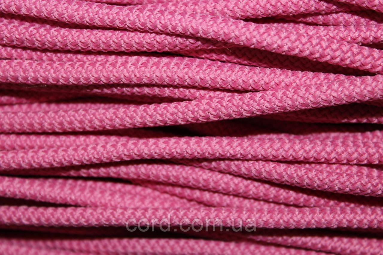 Шнур круглый 6мм с наполнителем 100м темно розовый