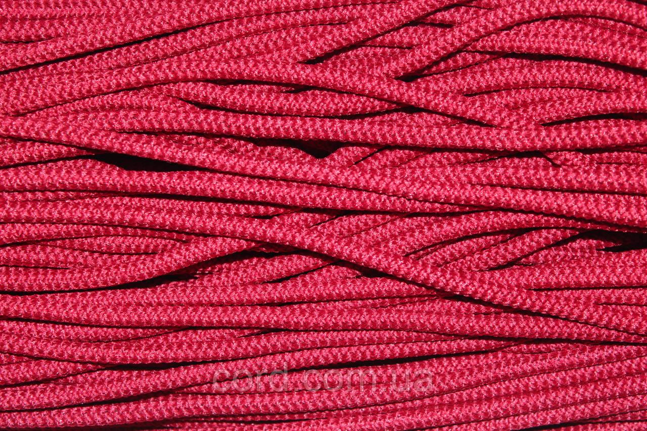 Шнур круглый 6мм с наполнителем 100м красный