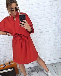 Стильное женское платье-кимоно средней длины 42-58 р