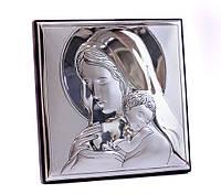 "Икона серебряная ""Мадонна с Младенцем""(8х8см) 81243.3L"