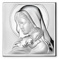 "Икона серебряная ""Мадонна с Младенцем"" (12х12см) 81243.4L"