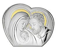 """Ікона срібна """"Свята Сім'я"""" (20х16см) B2685"""