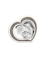 "Икона серебряная ""Матерь Божья с Младенцем"" (15х13 см) L 221.2"