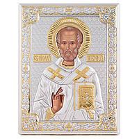 """Икона серебряная """"Святий Никалай Чудотворець"""" (12х16см) 85301 3LORO, фото 1"""