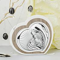 """Икона серебряная """"Мадонна з Младенцем"""" 25х22см  L221.4"""