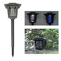 Садовый светильник для уничтожения насекомых на солнечной батарее с выключателем (квадратный)