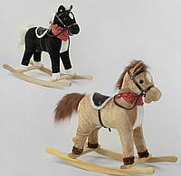 Качалка-лошадка для детей модель 65273, в наличии 2 цвета, звуковые эффекты, двигает хвостом.