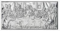 """Икона серебряная """"Тайная Вечеря"""" (39х19см)  81323 6ХL"""