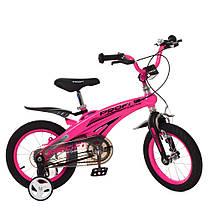Велосипед дитячий PROF1 12 Д. LMG12125 Проективної синій, фото 3