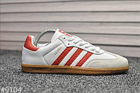 Чоловічі кросівки Adidas Samba White Red, Репліка, фото 1