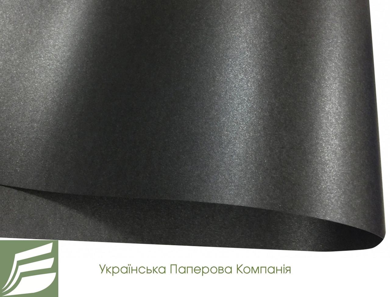 Дизайнерский картон Majestic Black Paper, черный перламутровый, 250 гр/м2